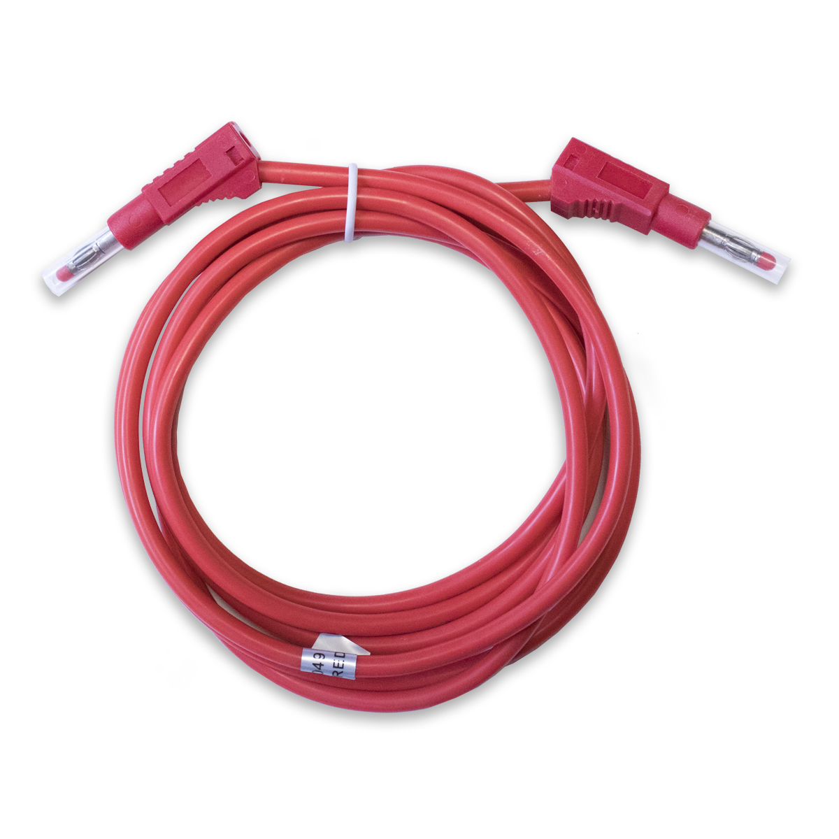 Test Lead: Stackable, Retractable Banana Plugs, 10 AWG, 79""