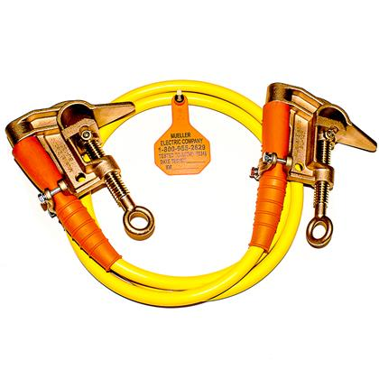 Single Grounding Assembly w/ Bronze Style C-Clamps