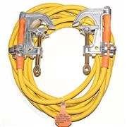"4/0 Cable, 2.4"" Aluminum ""C"" Type Smooth Jaw Clamps"