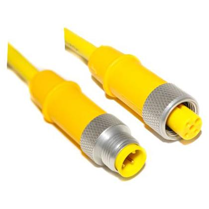 M12 Cord, 3 Position, Male Straight-Female Straight, 18AWG, 10M