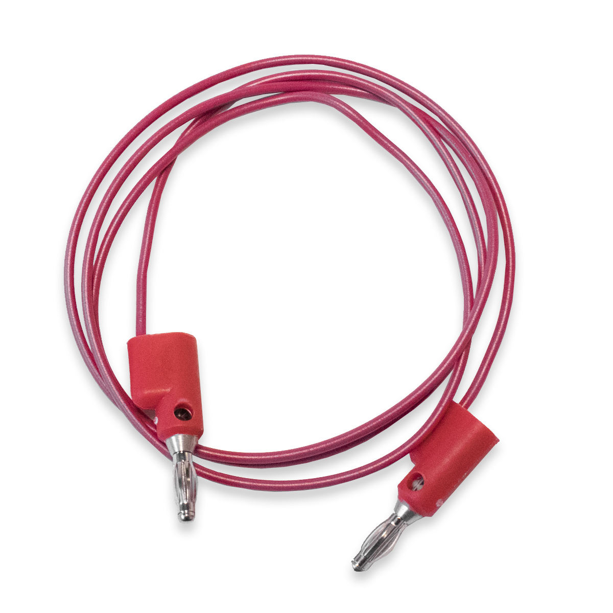Test Lead, Overmolded, Stackable 4mm Banana Plugs 20 awg 60""